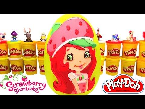 Huevo Sorpresa Gigante de Rosita Fresita Strawberry Shortcake en Español Play Doh Plastilina