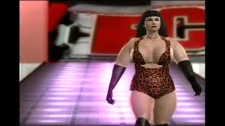Women's wrestling jobber: beautiful Louise Evans - entrance at the Amazon Club