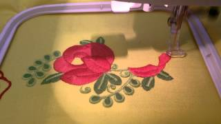 Free Machine Embroidery Design – Bouquet Of Red Flowers