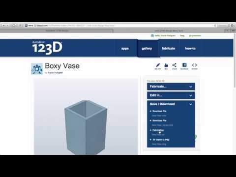123D Design Online: Export to STL