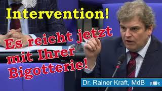 Bundestag: Rainer Kraft zerlegt SPD-Politikerin bei Kurzintervention