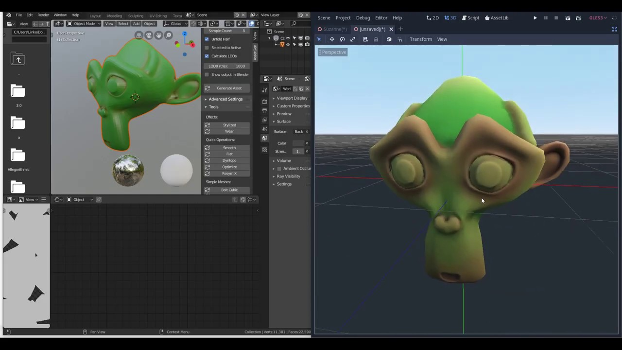 Automated Blender and Godot workflow