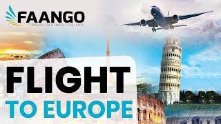 Cheap Flights to Europe | Faango | Call now 1-800-295-9711