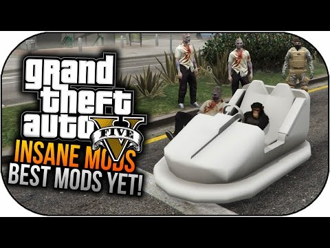 GTA 5 Mods - BEST MODS GAMEPLAY - Bumper Cars,Natural Disaster & More! (GTA 5 PC Mods)
