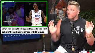 Pat McAfee Reacts To Lou Williams Breaking The Bubble To Get Strip Club Wings