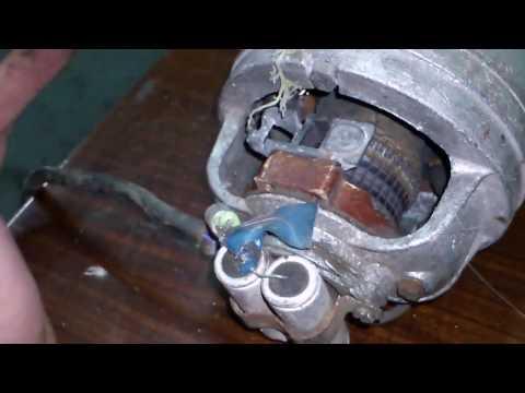 Ремонт насоса с коллекторным двигателем. Repair of pump with collector motor.