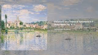 Variations on a theme by Robert Schumann, Op. 9