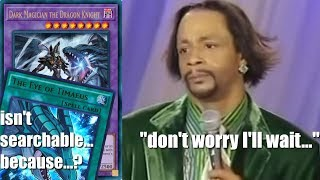 """Dark Magician The Dragon Knight: Eye Of Timaeus Isnt Searchable Because...? """"don't Worry I'll Wait"""""""