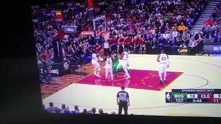 boston celtics player breaks his leg vs cavaliers