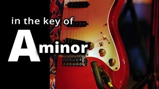 HARD ROCK BACKING TRACK: Classic Old School MELODIC METAL ★ A MINOR ★
