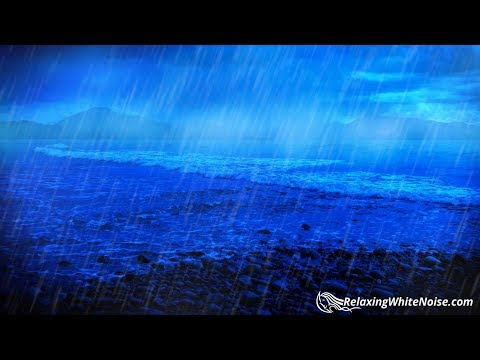 Rain and Ocean Sounds | Sleep, Study, Concentrate, Relax | White Noise 10 Hours