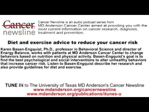 Diet and exercise advice to reduce your cancer risk
