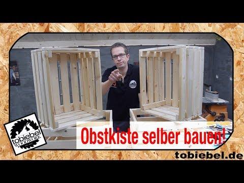 Obstkiste selber bauen⎮Holzkiste bauen⎮Weinkiste selber machen⎮Obstkisten bauen⎮tobiebel woodwork