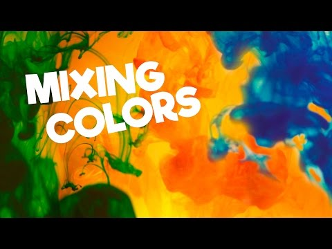 Learn colors for kids, preschoolers: Mixing colors • Fun edutainment video with color inks