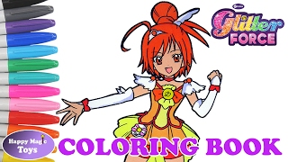 Coloring Book Glitter Force Smile Precure Sunny Happy Magic Toys