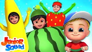 Fruits Song | Learn Fruits For Babies | Nursery Rhymes & Kids Songs By Junior Squad