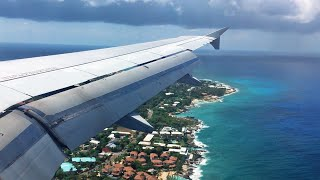 LOVELY ISLAND VIEW | American A319 Landing at Owen Roberts (Grand Cayman) - Full HD