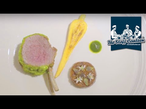 Michelin star chef Stevie McLaughlin creates roast rack of Scotch lamb, herb & mustard crust recipe