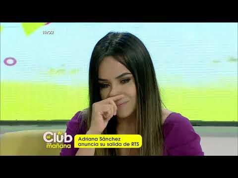 Adriana Sánchez anuncia su salida de RTS