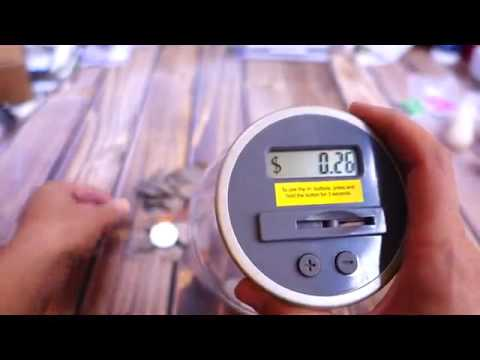 Digital Energy Digital Counting Coin Bank Savings Jar Review, Keeps track of your change