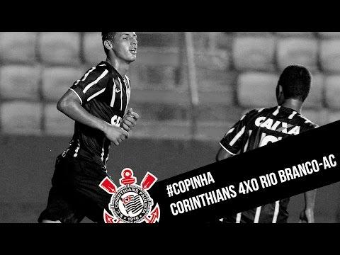 #Copinha | Corinthians 4x0 Rio Branco-AC
