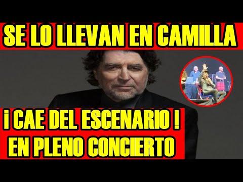 , title :'JOAQUIN SABINA CAE del ESCENARIO en PLENO CONCIERTO y SE LO LLEVAN en CAMILLA'