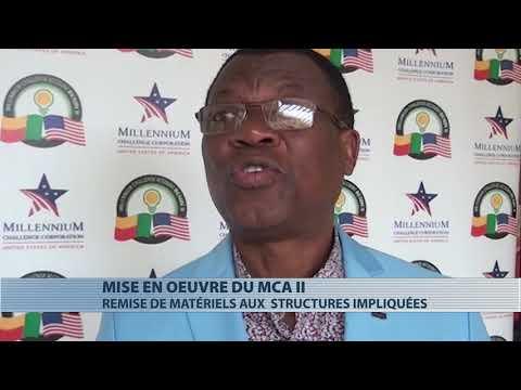 Remise d'équipements aux structures impliquées dans le MCA Bénin II Remise d'équipements aux structures impliquées dans le MCA Bénin II