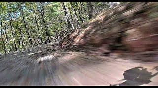 DJI FPV Mr. Croc Racing Drone Fast FPV Crash Ends Up 50 Feet Off the Road!