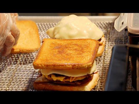 mozzarella cheese toast / korean street food / 부산 쿤타 샌드위치