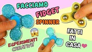 FACCIAMO UN FIDGET SPINNER (2 MODI) DIY SPINNER (ESPERIMENTI CREATIVI) Iolanda Sweets