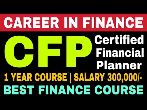 Certified Financial Planner (CFP) Course Full Details | Career in ...