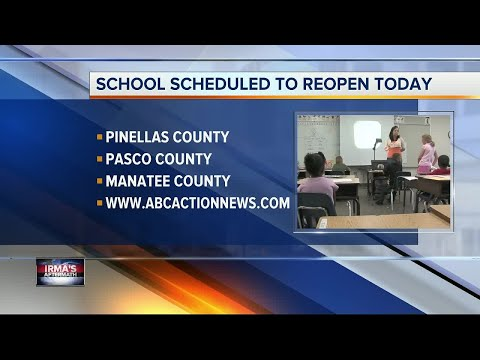 Schools scheduled to reopen today in most Tampa Bay Area counties