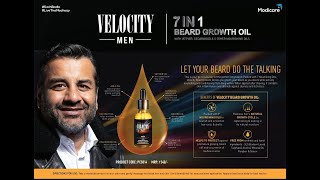 Launching VELOCITY men 7 in 1 beard growth oil & LAWS OF LEADERSHIP presented by Mr  Shrad Choudhury