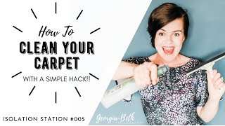 How to clean your carpet WITHOUT a carpet cleaner (Simple hack!)