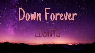 Down Forever   Lights (LYRICS)