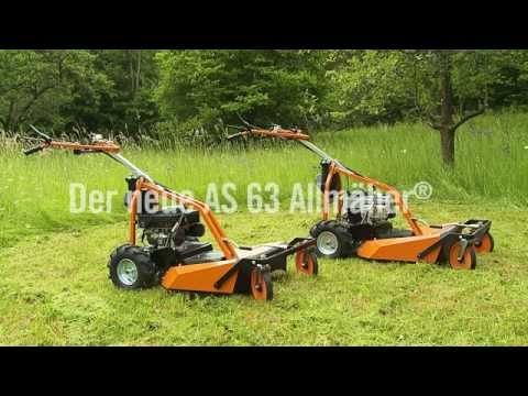 AS Motor 63 2T ES gressklipper - film på YouTube