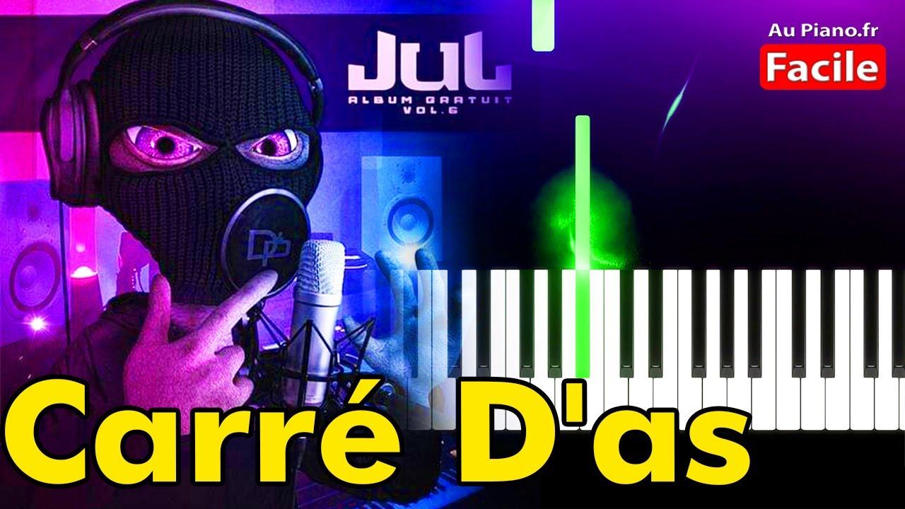JuL Carré Das Piano Cover Tutorial Paroles (AuPiano.fr)