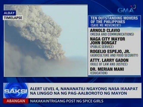 Saksi: Alert level 4 sa Bulkang Mayon, nananatili as ika-4 na linggo