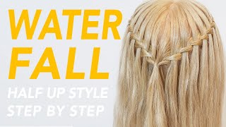 How To Waterfall Braid Step by Step For Beginners [CC]   EverydayHairInspiration