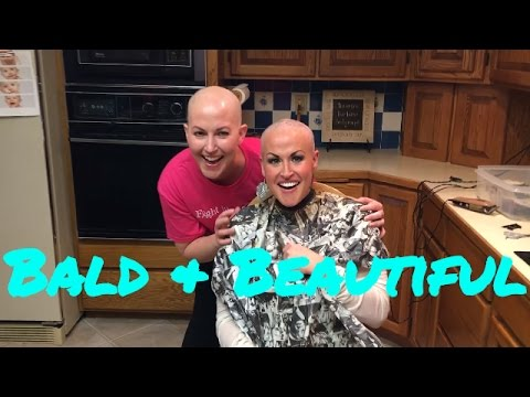 BALD BREAST CANCER PATIENT SHAVES SISTER'S HEAD