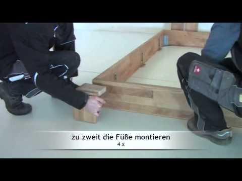 Montage / Aufbau eines Massivholzbettes Wildeiche von MÖBEL EINS