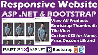 Responsive Website-ASP.NET&Bootstrap-Part 21-View All Products-Thumbnails-Tile VIew
