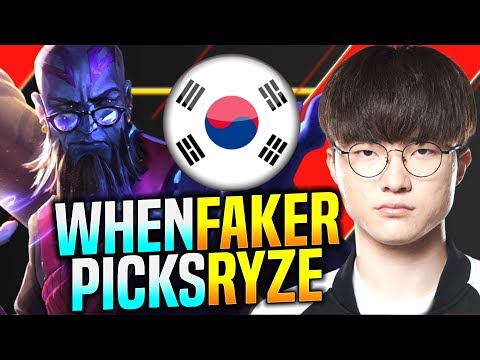 Faker Tries to Carry with Ryze! - SKT T1 Faker Plays Ryze vs Nautilus Mid! | Faker KR SoloQ