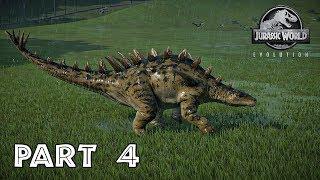 Jurassic World Evolution Walkthrough Part 4 - HUAYANGOSAUROS | PS4 Pro Gameplay