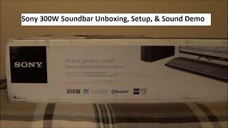 Sony HT CT370 Soundbar Unboxing Setup & Sound Demo
