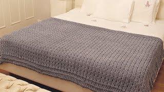 Alize Puffy ile Kısa Yatak örtüsü(Yatak Şalı) Yapımı-Making Bed Scarf with Alize Puffy