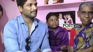 Allu Arjun Met Die Hard Fan Mastan Bi In Vijayawada Who Is Suffering From Cancer