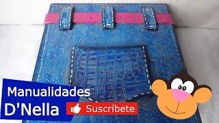 "Manualidades: Cajita de Trupan con Tecnica Jeans -By:""Taller Dnella"" 2014"