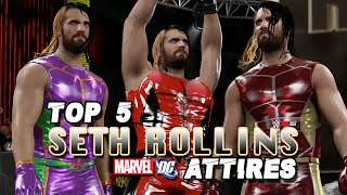 WWE 2K16 Creations: TOP 5 Seth Rollins SUPERHERO Attires!