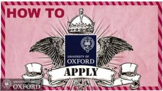 Oxford University - How To Apply- Undergraduate Admissions